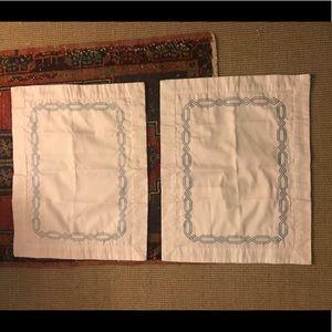 Lands end boudoir pillow covers s/2 EUC
